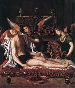 The Body of Christ with Two Angels ALLORI Alessandro