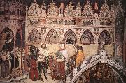 Virgin Being Worshipped by Members of the Cavalli Family ALTICHIERO da Zevio