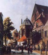 A Dutch Market Scene 3 Adrianus Eversen