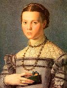 Portrait of a Young Girl with a Prayer Book Agnolo Bronzino