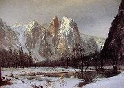 Cathedral Rock, Yosemite Valley Albert Bierstadt