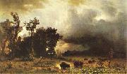 Buffalo Trail Albert Bierstadt
