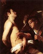 St Sebastian Healed by an Angel  ed Baglione