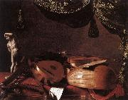 Still-Life with Musical Instruments and a Small Classical Statue  www BASCHENIS, Evaristo