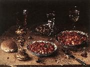 Still-Life with Cherries and Strawberries in China Bowls BEERT, Osias