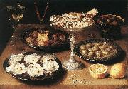 Still-Life with Oysters and Pastries BEERT, Osias