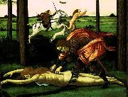 The Story of Nastagio degli Onesti (detail of the second episode)  dghg Botticelli