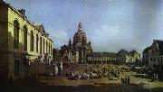 The New Market Square in Dresden Seen from the Judenhof Bernardo Bellotto