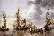 The State Barge Saluted by the Home Fleet df CAPELLE, Jan van de