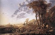 Evening Landscape with Horsemen and Shepherds dgj CUYP, Aelbert