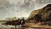 Large River Landscape with Horsemen fdg CUYP, Aelbert
