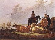 Peasants with Four Cows by the River Merwede dfg CUYP, Aelbert