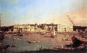 London: Greenwich Hospital from the North Bank of the Thames d Canaletto