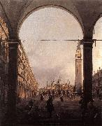 Piazza San Marco: Looking East from the North-West Corner f Canaletto
