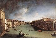 Grand Canal, Looking Northeast from Palazo Balbi toward the Rialto Bridge Canaletto