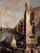 Grand Canal, Looking East from the Campo San Vio (detail) fd Canaletto