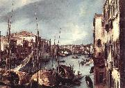 The Grand Canal with the Rialto Bridge in the Background (detail) Canaletto