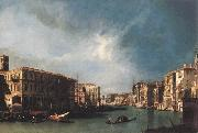 The Grand Canal from Rialto toward the North Canaletto