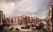 Grand Canal: Looking North-East toward the Rialto Bridge ffg Canaletto