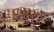 Grand Canal: Looking North-East toward the Rialto Bridge (detail) d Canaletto