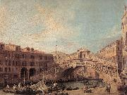 Grand Canal: The Rialto Bridge from the South f Canaletto