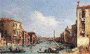 The Grand Canal from Campo S. Vio towards the Bacino fdg Canaletto