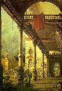 Capriccio, A Colonnade opening onto the Courtyard of a Palace Canaletto