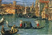 The Grand Canal and the Church of the Salute (detail) ffg Canaletto
