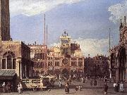 Piazza San Marco: the Clocktower f Canaletto