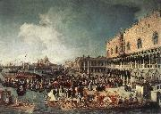 Reception of the Ambassador in the Doge s Palace Canaletto