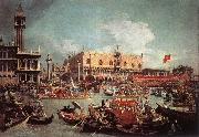 The Bucintoro Returning to the Molo on Ascension Day fg Canaletto