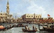 Return of the Bucentoro to the Molo on Ascension Day d Canaletto