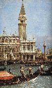 Return of the Bucentoro to the Molo on Ascension Day (detail)  fd Canaletto