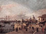 Entrance to the Grand Canal: from the West End of the Molo  dd Canaletto
