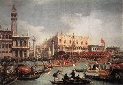 The Bucintore Returning to the Molo on Ascension Day Canaletto