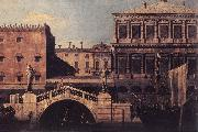 Capriccio: The Ponte della Pescaria and Buildings on the Quay d Canaletto