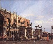 Capriccio: The Horses of San Marco in the Piazzetta Canaletto