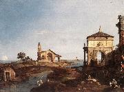 Capriccio with Venetian Motifs df Canaletto