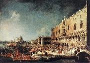 Arrival of the French Ambassador in Venice d Canaletto