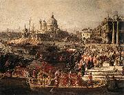 Arrival of the French Ambassador in Venice (detail) f Canaletto