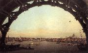 London: Seen Through an Arch of Westminster Bridge df Canaletto