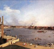 London: The Thames and the City of London from Richmond House g Canaletto