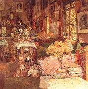 The Room of Flowers Childe Hassam