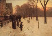 Boston Common at Twilight Childe Hassam