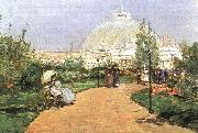 The Chicago Exhibition, Crystal Palace Childe Hassam