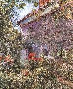 Old House and Garden at East Hampton, Long Island Childe Hassam
