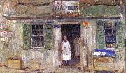News Depot at Cos Cob Childe Hassam
