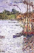The Mill Pond at Cos Cob Childe Hassam