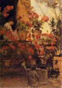 Geraniums Childe Hassam