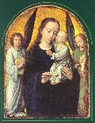 Mary and Child with two Angels Making Music dsf DAVID, Gerard